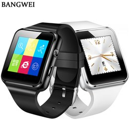 Bluetooth Smart Watch Sim NZ - BANGWEI 2018 Smart Watch Clock With SIM Card Slot Push Message Bluetooth Connectivity Android Phone Better Smartwatch Men Watch