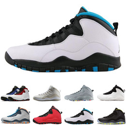 denim blue ladies shoes 2018 - New 10 mens basketball shoes Steel Grey white black 10S trainers Powder Blue Lady Liberty Chicago GS X Fusion I'm B