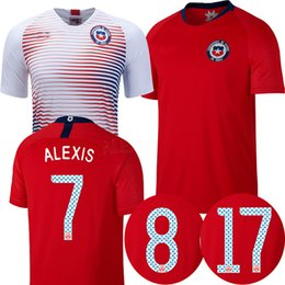 387495d05 2018 chile soccer jersey 18 19 chile home away white Camisa de futebol ALEXIS  VIDAL MEDEL 2018 football shirt world cup maillot
