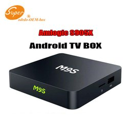 Wholesale M9S X1 TV Box Set top Box Amlogic S905X WIFI GHz quad core Mali GB DDRI GB Emmc Android OS Support multilateral languages