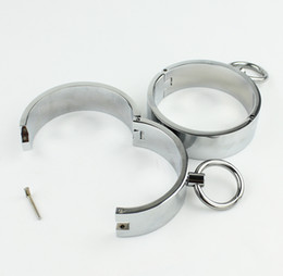 China Bondage Gear BDSM Metal Circular Ankle Cuffs Slave Handcuff Sex Toys For Couple Adult Games erotic Toys cheap metal ankle handcuff suppliers
