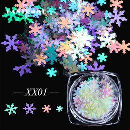 $enCountryForm.capitalKeyWord NZ - Laser Chameleon Snowflakes Nail Sequins Flakes Paillette Design Nail Art Glitter Stickers Manicure Decoration Holo Shape Sparkle