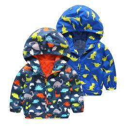 71f336c718b9 Sudaderas con capucha de dinosaurios para niños 2019 Abrigos de tenca de  dibujos animados de otoño Niños bebés Ropa deportiva 3 chaquetas deportivas  Ropa ...