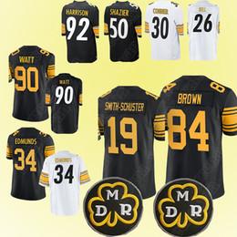b52c64117 Pittsburgh Steeler jerseys 84 Antonio Brown 19 Juju Smith-Schuster 90 T.J.  Watt 34 Terrell Edmunds 50 Ryan Shazier jersey