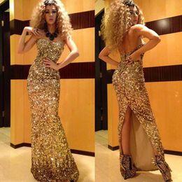 $enCountryForm.capitalKeyWord Canada - Myriam Fares Evening Dress Sheath Side Slit Formal Special Occasion Dress Celebrity Dresses Prom Party Gown Plus Size vestidos de festa