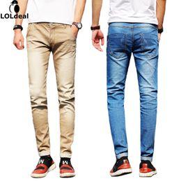 Wholesale size 38 slim fit jeans for sale – denim Loldeal Brand Men Jeans Size To Black Blue Stretch Denim Slim Fit Men Jean For Man Pants Trousers Jeans Asian Size