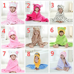 Baby 9 Designs Flannel Cartoon Molding Cloak Absorbent Hooded Bathrobe With Cute Animal Hats Children's Single Layer Cloak Hold Cloak on Sale