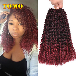 $enCountryForm.capitalKeyWord NZ - TOMO Ombre Brown Or Burgundy Crochet Braids Hair Synthetic 12 Inch Curly Braid For Black Or White Woman Braiding Hair Extentions
