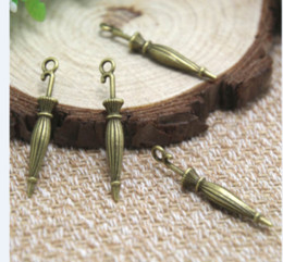 Umbrella charms online shopping - 25pcs Umbrella Charms Antique Tibetan Bronze D Umbrella Charm Pendant x6mm