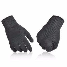 $enCountryForm.capitalKeyWord UK - Outdoor 5 Level Anti-Cutting Gloves Stainless Steel Wire Safety Work Hands Protector Cut Proof Black Color X028