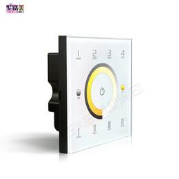 Temperature Controller Dimmer Australia - LTECH D7 DC12V-24V DMX dimmer touch panel switch controller CCT Color temperature adjustment dimmer ,4-zone DMX512 controller