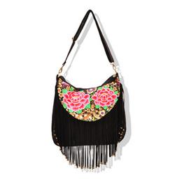 $enCountryForm.capitalKeyWord Canada - Fashion Bohemian Embroidery Women Saddle bags!Hot Nice Floral embroidered National Women Shoulder&Crossbody Vintage Tassel bags