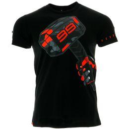 $enCountryForm.capitalKeyWord UK - NEW 2017 Jorge Lorenzo 99 Hammer Men's T-shirt Moto GP Motorcycle Racing Sports Summer Black Tee