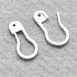 "white safety pins NZ - 1000PCS 7 8""Length white Plastic Safety Pins in bulb shaped good For garment tags, DIY craft, stitch marker"