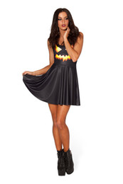 Wholesale pumpkin costume women online – ideas Europe and America Halloween pumpkin lantern printing performance party vest vest dress Skirt type pleated skirt collar collar