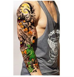 Wholesale Waterproof Temporary Tattoos Stickers For Body Art Flash Tattoo Sleeve Sexy Product Fake Metallic Tattoos Transfer Stickers on Sale