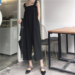 $enCountryForm.capitalKeyWord NZ - 2018 Fashion Women Jumpsuits rompers Vogue Bare Shoulder Loose Casual Rompers Summer Chiffon Jumpsuits Nine Wide Leg Pants