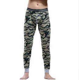 ef06493b9f3604 Hot Winter Warm Men Cotton Camouflage Leggings Tight Men Long Johns Plus  Size Warm Underwear Man Thermal Underwear 6 Colors