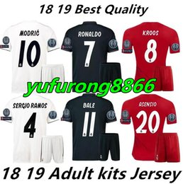 8d8ee74b96e Soccer Jersey Kit Sets Canada - 2018 2019 soccer Jerseys Kit HOME WHITE AWAY  Home Away