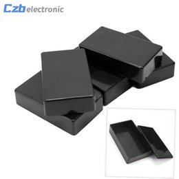 $enCountryForm.capitalKeyWord Canada - 5PCS lot New Plastic Electronic Project Box 100x60x25mm Black DIY Enclosure Instrument Case Electrical Supplies