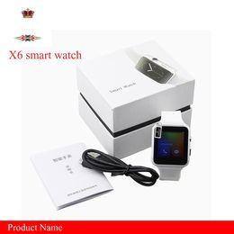 $enCountryForm.capitalKeyWord Australia - EUB Smartwatch Curved Screen X6 Smart watch bracelet Phone with SIM TF Card Slot with Camera for Samsung android smartwatch