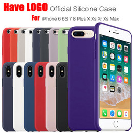 Logo For Iphone NZ - Original Have LOGO Silicone Case For iPhone 7 8 Plus Phone Silicon Cover For iphone X 6S 6 Plus For Apple Retail Box