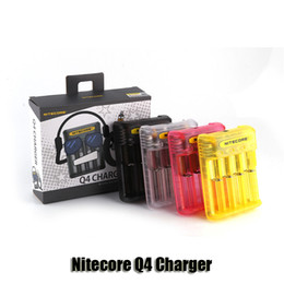 $enCountryForm.capitalKeyWord NZ - 100% Original Nitecore Q4 4-Slot 2A Quick Charger Intellicharger Universal E Cig Charger For 18650 26650 Li-ion IMR Battery