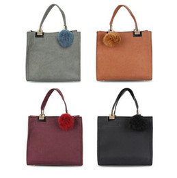 Boston Tote Bag Free Shipping Canada - Women handle Hair bulb Bags Frosted Hardware Quadrate Tote Bag for Women Vintage Lady Crossbody Shoulder Bags DHL Free Shipping