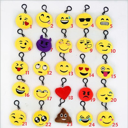 China Emoji QQ Expression Plush Key Rings Cartoon Action Game Figure Pendant Keychain Cell Mobile Phone Stuffed Keychain Toys Gifts suppliers