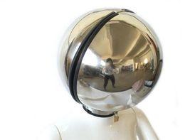 Helmet adult online shopping - Stainless Steel Bondage Ball Helmet Headgear Hood Face Mask Eyepatch Dog Slave BDSM Adult Bed Games Product Sex Flirting Toy