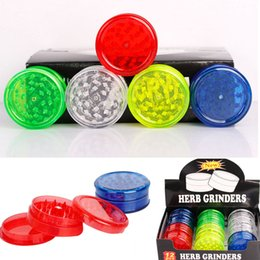 $enCountryForm.capitalKeyWord NZ - Plastic Tobacco Herb Grinders Colorful 3 Parts Smoking Pipe Filter Grinder Tools Mix Color 60 MM HH7-1367