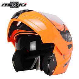 Full Race Helmet NZ - NENKI Motorcycle Full Face Helmet Summer Flip Up Street Bike Moto Motorbike Racing Helmet with Dual Visor Sun Shield Lens 831