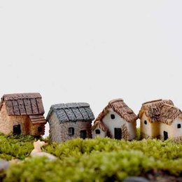 $enCountryForm.capitalKeyWord UK - 4Styles Small Houses Model Desktop Decoration Moss Terrarium Micro Landscape Succulent Ornament Fairy Garden Plant Pot Bonsai DIY Zakka