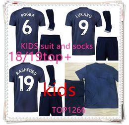 Men s juMpsuits online shopping - kids maN POGBA ALEXIS LUKAKU soccer jerseys UNITEd KITS Sanchez RASHFORD FOOTBALL Jumpsuit UtD jerseys football shirt Boys Sets