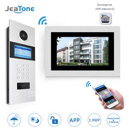 $enCountryForm.capitalKeyWord UK - 7'' WIFI IP Video Door Phone Intercom Wireless Door Bell Building Security Access Control System Touch Screen Password IC Card
