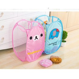 $enCountryForm.capitalKeyWord Australia - Cute Storage Baskets Bins Kids Room Toys Storage Bags INS Storage Basket Bucket Clothing Organizer Laundry Bag Nylon Cloth Cartoon