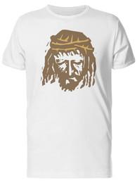 Men S Clothes Images NZ - Christ Face Silhouette Men's Tee -Image by Shutterstock Men Clothing Plus Size S M L Xl Xxl Base Shirt