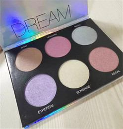 good highlighter makeup Australia - Highlighter Palette 6 Colors Makeup Dream Glow 2018 New Eyeshadow Palette Highlighters and Good Quality DHL Free Shipping