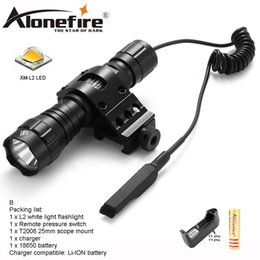flashlight remote control NZ - AloneFire 501Bs CREE XM-L2 Tactical Flashlight Torch Hunting Lantern with Mount Remote Control Pressure Switch tactical mount