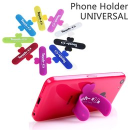 Phone holder touch u online shopping - Mini Touch U One Touch Silicone Stand Finger Rings Universal Portable Phone Holder For Smart Phone