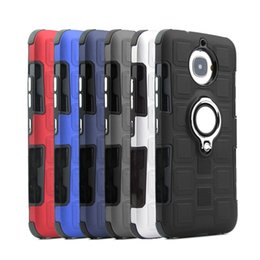 Discount shells for cars - Adsorption Bracket Finger Ring Cover Case For Motorola Moto C E4 G5 G5S Plus X4 2017 Car Armor Hard Silicone PC Stand Sh