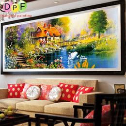 Dpf online shopping - Dpf New Diy d Diamond Mosaic Needlework Garden Round Full Diamond Painting Cross Stitch Kits Diamond Embroidery Home Decor