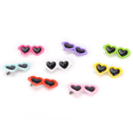 Dog Hair Clipping UK - Pet Dog Hair Bows Clips Love Style Doggie Boutique Sunglasses Pet Grooming For Dogs Cats Hairs Groom