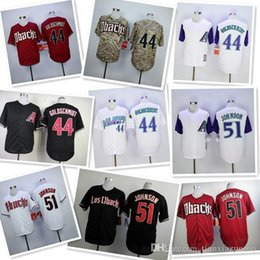 313f1f334 2019 Men s Diamondbacks 44 Paul Goldschmidt 51 Randy Johnson 100% stitched  baseball Jerseys color white red black camo top quality
