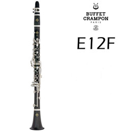 Discount musical instrument clarinet - Hot Selling Buffet Crampon E12F 17 Keys Bb Clarinet High Quality Wood Bakelite Tube B Flat Musical Instruments Clarinet