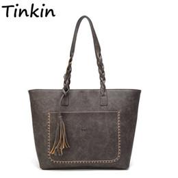 $enCountryForm.capitalKeyWord Canada - Tinkin Vintage PU Tassel Women Shoulder Bag Female Retro Daily Causal Totes Lady Elegant Shopping Handbag