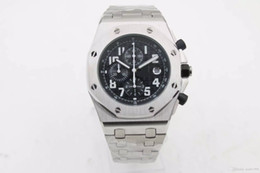 Discount men limited watches chronograph - 2017 New Luxury brand men Black Dial sports quartz chronograph limited Watch Wristwatch Populor Silver Stainless Pointer