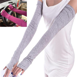 $enCountryForm.capitalKeyWord NZ - Long Arm Sleeves for Women Cotton Ladies Fashion Long Arm Sleeves Sunscreen Riding Gloves Summer Arm Warmers