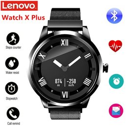 oled smart watch 2019 - Lenovo Watch X Plus Smartwatch Milanese Import Movt OLED 45 Days Standby Wristwatch Heart Rate Sleep Monitor Smart Watch