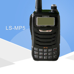 Dual Band Uhf Vhf Portable Australia - YI XIN LS-MP5 dual-band VHF UHF mp3 features SD card walkie-talkie handheld portable transceiver two way radio